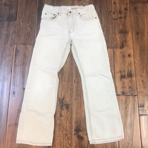 Tan colored jeans size 14